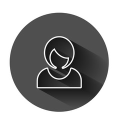 woman sign icon in flat style female avatar on vector image