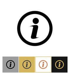 info icon information round symbol on gold and vector image vector image