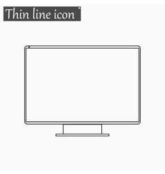 monitor TV Screen icon Style thin line vector image vector image