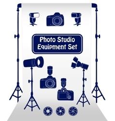 Photo studio set vector image