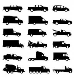 truck set vector image vector image