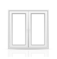 Closed window vector image