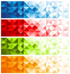 Colorful Mosaic Banners vector image vector image