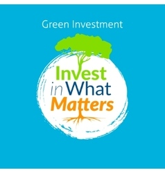 Invest in what matters logo vector