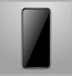 modern smartphone mockup isolated on transparent vector image