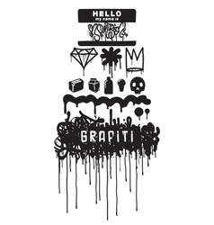 Graffiti iqons element vector image