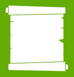 retro scroll paper icon green vector image vector image
