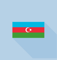 azerbaijan flag in official proportions vector image vector image