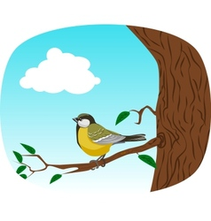 bird on a tree vector image vector image