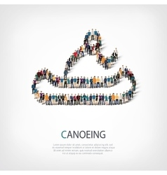 people sports canoeing vector image