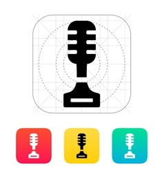 Singer icon on white background vector image vector image