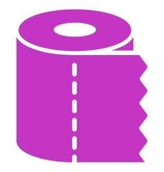 Toilet Paper Roll Icon vector image