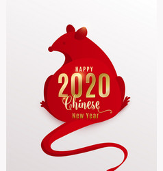 2020 rat happy chinese new year red mouse is vector image