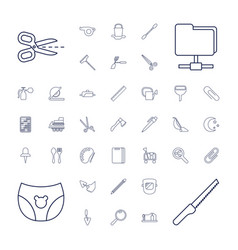 37 tool icons vector