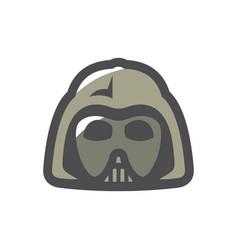 alien warrior halloween mask cartoon vector image