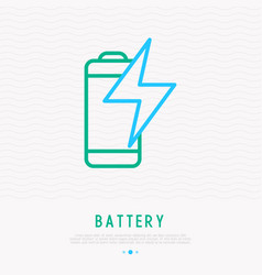 battery load thin line icon vector image