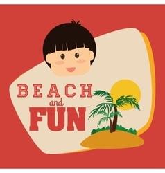Beach design vector