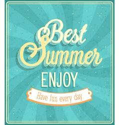Best Summer Enjoy typographic design vector