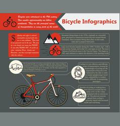 bike infographic vector image