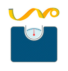 Body weight scales and measurement tape patterns vector