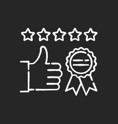 Brand image chalk white icon on black background vector