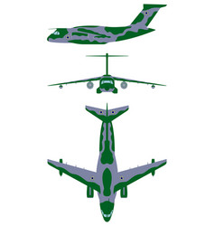 brazilian military aircraft camouflage painting vector image