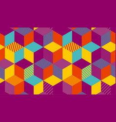 Bright carnival geometry hexagon background vector