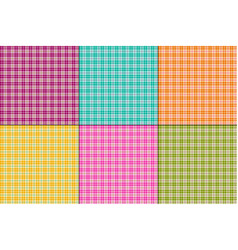 bright colors small plaids vector image