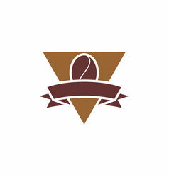 brown coffee logo vector image