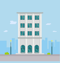 building design in towncompany building vector image