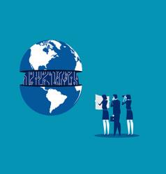 Business team and management international vector