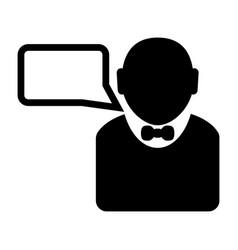 businessman talking icon image vector image