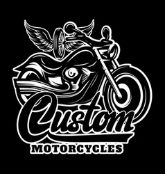 calligraphy lettering inscription with motorcycle vector image