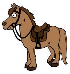 cartoon farm animals cute horse smiles eps 10 vector image