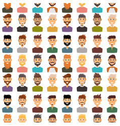 character expressions bearded man face seamless vector image vector image