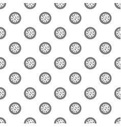 cherry on cake pattern seamless vector image