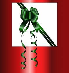 Christmas bow vector