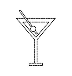 cocktail in glass cup liquor alcohol vector image