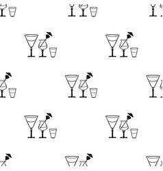 Cocktails icon in black style isolated on white vector