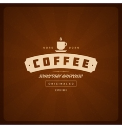 Coffee Shop Logo Design Element vector