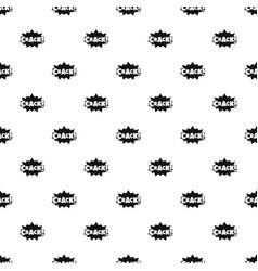 comic boom crack pattern seamless vector image
