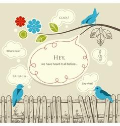 communication nature vector image