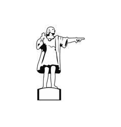 Cristobal Colon sculpture in Barcelona icon vector