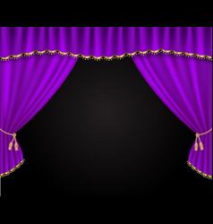 curtain realistic vector image
