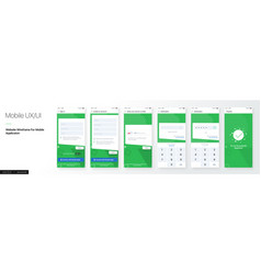 Design a mobile application and site ui set vector