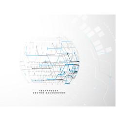 Digital technology innovation design concept vector