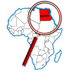 egypt under a magnifying glass vector image
