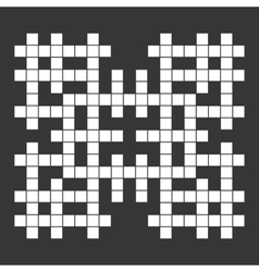 Empty Squares British-style Crossword Grid vector