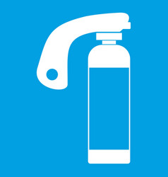 fire extinguisher icon white vector image