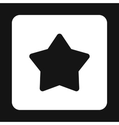 Five pointed black star icon simple style vector